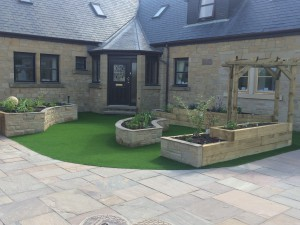 Paving-Artificial-Lawn-Project